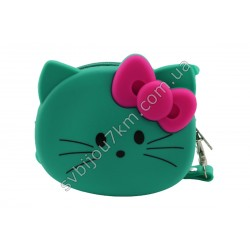 Кошелек-ключница Hello Kitty зеленая