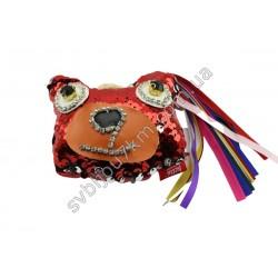 Брелок Мишка красного цвета
