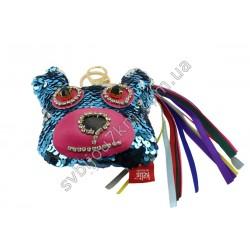 Брелок Мишка голубого цвета