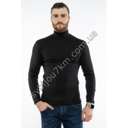 Мужская водолазка черного цвета с горлом