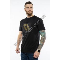 Мужская футболка черного цвета JUST DO IT Forever