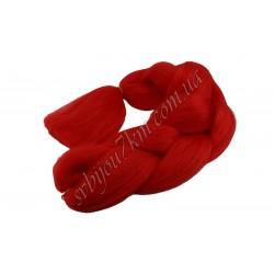 Канекалон для плетения косы красный