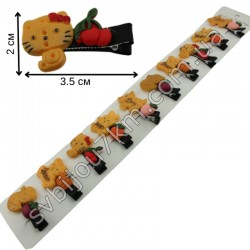 Детские заколки уточки Печенье с фруктами