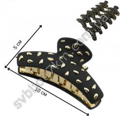 Заколки крабы для волос с золотым декором