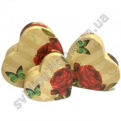 Подарочные коробки в форме сердца Розы