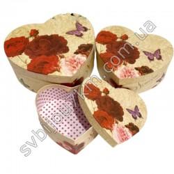 Подарочные коробки в форме сердца Красные Розы