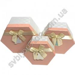 Подарочные коробки с бантиком розовые