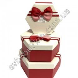Подарочные коробки с бантиком красно-белые