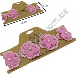 Чокер на шею с розовыми цветами