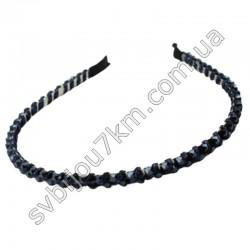 Обруч для волос с темно-синими кристаллами