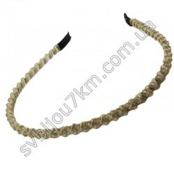 Обруч для волос с золотистыми кристаллами
