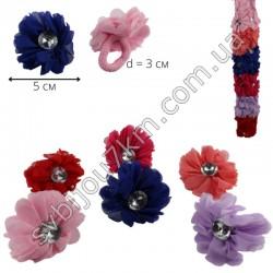Резинка детская для волос тканевый цветочек