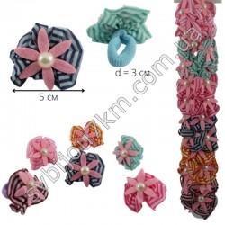 Резинка для волос детская с тканевым цветочком