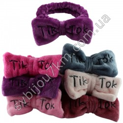 Махровые повязки c бантом TIK-TOK