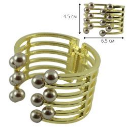 Браслет на руку с жемчугом цвет металла золото