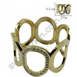 Браслет на руку широкий 5*7 см цвет металла золото