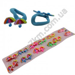 Резинка для волос детская зонтики
