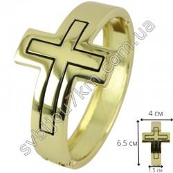 Браслет металлический крест цвет металла золото