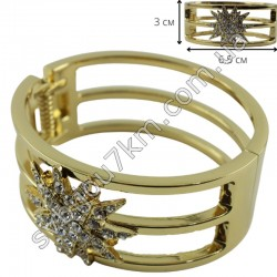 Браслет металлический звезда цвет металла золото