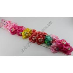 Резинки для волос детские Вишенка на шелковом бантике