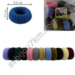 Резинка для волос Калуш махровая ( 12 шт ) цветная