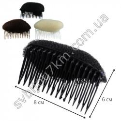 Валик для волос с гребешком 3 цвета