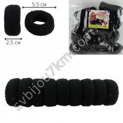 Резинка для волос Калуш махровая ( 12 шт ) черная