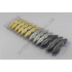 Заколка автомат для волос металлическая 8.5 см