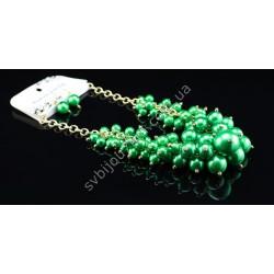 Бусы из пластика «под жемчуг» Chanel зеленые перламутровые