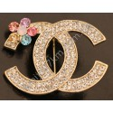 Брошь Chanel с цветочком цвет металла золото