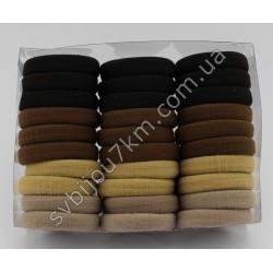 Резина для волос микрофибра однотонная d 4 см