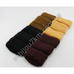Резинка для волос бесшовная широкая махровая