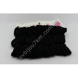 Резинка для волос микрофибра чернобелая 6 см