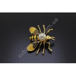 Брошь пчела с жемчугом