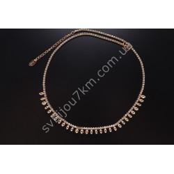Подвеска ожерелье на шею с фианитами