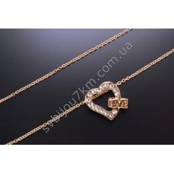 Подвеска Сердце цвет металла золото