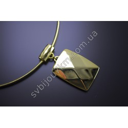 Ожерелье на жесткой основе с золотым декором