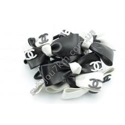 Резинка для волос черно-белый Бант Chanel