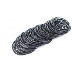 Резинка для волос тонкая черная Fashion Trend