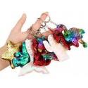 Брелки для ключей пластиковые , с пайетками